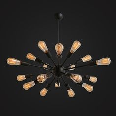 18 heads Edison bulb Steel Ceiling Lamp  edison by LightwithShade