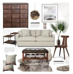 """""""Living Room"""" by revan ❤ liked on Polyvore featuring interior, interiors, interior design, home, home decor, interior decorating, Crate and Barrel, MUMO, John-Richard and Jayson Home"""