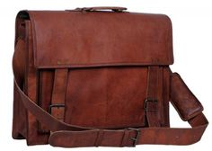 Komals Passion Leather 18 Inch Retro Leather Briefcase Laptop Messenger Bag ** See this great product. Leather Laptop Bag, Leather Briefcase, Leather Crossbody, Men's Leather, Brown Leather, Briefcase For Men, Laptop Briefcase, Laptop Messenger Bags, A 17