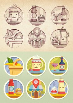 Beautiful Collection of Icon Sketches for Inspiration