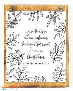 Six Thanksgiving Scripture Printables