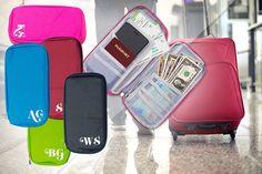 Personalised Travel Organiser - 5 Colours!
