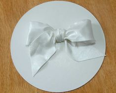 How To Make a Gumpaste Bow Tutorial on Cake Central on Cakecentral.com