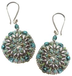 FREE Beading Pattern: Bodacious Earrings and Pendant by Deborah Roberti | Bead-Patterns