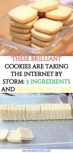 These brilliant cookies are taking the internet by storm: 3 ingredients and ready in no time - Dessert Recipes Biscuit Cookies, Biscuit Recipe, Yummy Cookies, Brownie Cookies, Easy Cookie Recipes, Sweet Recipes, Baking Recipes, Yummy Recipes, Crack Crackers