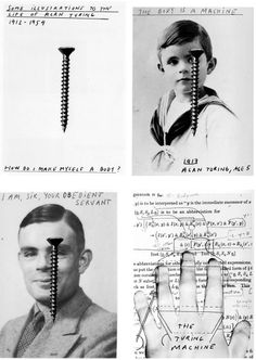 Taken from Henrik Olesen's Some Illustrations to the Life of Alan Turing, The Imitation Game, Alan Turing, Female Hormones, World War Ii, Mathematicians, Coding, Sailors