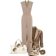 Smart Casual Neutral Jump Suit ▶suggested by ~Sophistic Flair~
