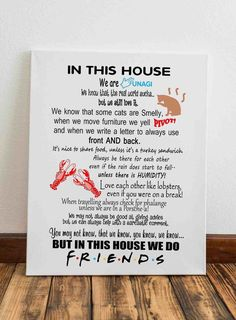 Friends tv show quotes This is Awesome! Serie Friends, Friends Moments, Friends Tv Show Gifts, Friends Episodes, Friend Memes, My Friend, Monica Rachel, In This House We, Full House