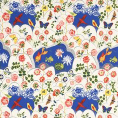 Textile Goldfish 315 Lin Josef Frank fabrics labeled 315 Lin is the quality used for curtains, pillows and other textile products, as well as the furniture in the home which are not exposed to excessive wear. This pattern drawn Josef Frank during his first time in Sweden, 1934-1940.   This company is now making reproductions of his fabrics.