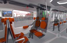 Alstom Deconstruccio - A Train for Catalonia Guido Dodero and Ruben Oya Mode Of Transport, Public Transport, Bus Interior, Interior Design, Water From Air, Future Transportation, Cabin Design, Business Travel, Industrial Design