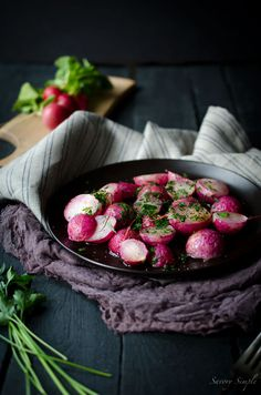 Roasted Radishes with Brown Butter and Parsley //