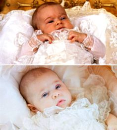 hrhroyalty: Princess Madeleine on the day of her christening on, August 31st, 1982, and her daughter, Princess Leonore, on the day of her christening, June 8th, 2014.