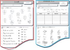 Le verbe et le nom CP - Saperlipopette French Kids, New Class, Teaching French, Learn French, French Language, School Projects, Grammar, Spelling, Vocabulary
