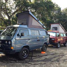 When your whole team is on point! Ratemycamper.com #Repost @artvault47 #exploremore #gowesty #offroad #overland #syncro #syncrofest #syncrolife #T3 #vanagon #vanagonlife #vancafe #vanlife #vw #vwvan #westfalia #westylife #vwcampervan #vwtransporter #vwcamper #campervan by rate_my_camper