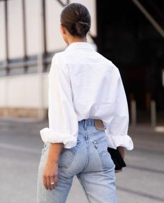 Mode Outfits, Fashion Outfits, Womens Fashion, Fashion Trends, Style Fashion, Casual Outfits, Looks Style, Style Me, Oversized White Shirt