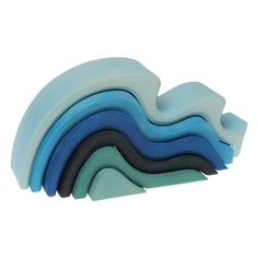 "Grimm's Large WaterWaves Stacker - Nesting Wooden Wave Blocks, ""Elements"" of Nature: WATER ❤ Grimm's Spiel and Holz Design Stacking Blocks, Stacking Toys, Grimm, Waldorf Playroom, Toys For Little Kids, Giant Waves, Water Based Stain, Elements Of Nature, Natural Toys"