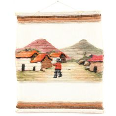 There are a few things that a wall tapestry can't represent in a great way, and foreign countries are not among them. To the contrary, take a look at this amazing hand-woven Peruvian wool village wall tapestry – beautiful, simplistic, and a perfect wall decoration for any home. #bohemian #decor #tapestries&curtains #sandiegovintage #vintagefurniture
