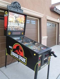 "This pinball machine. | 19 Fearsome ""Jurassic Park"" Items You Need In Your Life"