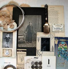 Vintage Ephemera Altered Art Pack  Art Kit  by WillowpaigeVintage
