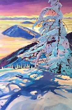 Stephanie Gauvin is a contemporary landscape painter, a Signature member of the Federation of Canadian Artists out of British Columbia. Contemporary Landscape, Contemporary Artists, Painting Inspiration, Art Inspo, Canadian Artists, British Columbia, Scene, Mountains, Artwork