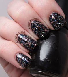 New Year's Eve rainbow glitter nails - facebook @ GAME N GLOSS