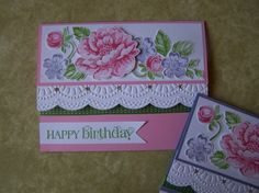 Stippled Blossoms Birthday Wishes
