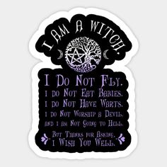 Shop Wiccan Pagan Witch T-Shirt I am a Witch Misconceptions Tee wiccan stickers designed by BeesEz as well as other wiccan merchandise at TeePublic. Witch Symbols, Viking Symbols, Mayan Symbols, Egyptian Symbols, Viking Runes, Ancient Symbols, Pagan Witch, Wiccan Spells, Witches
