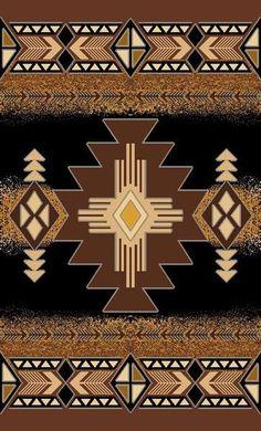 Persian Weavers Concord southwestern rug 8x11 black PW-C-3181452
