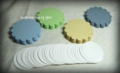 80 Scallop Circle and Circle Mix Tags  by CardsAndMoreBySheri, $6.00