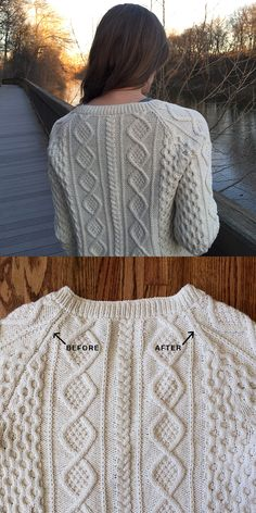 Basted knitting: Or, how (and why) to seam a seamless sweater - Fringe Association Easy Knitting Patterns, Knitting Stitches, Knitting Designs, Knitting Yarn, Hand Knitting, Knitting Help, How To Purl Knit, Garter Stitch, Knit Or Crochet