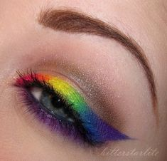 #Rainbow #Liner #Eyeshadow #MakeUp