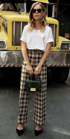 Best Street Style, Street Style Outfits, Mode Outfits, Trendy Outfits, Fashion Outfits, Womens Fashion, Office Outfits, Woman Outfits, Karohosen Outfit