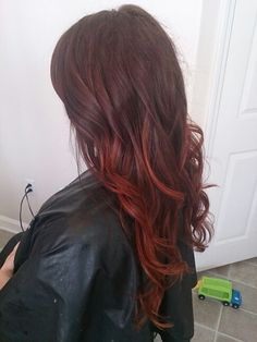 Red ombre (This is me, Katrina.)  Love how Bree did my hair that day! I'll definitely be going back!!  I'm going to try not to be a frumpy mommy lol