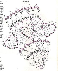 Filet Crochet, Crochet Doily Diagram, Crochet Wool, Crochet Doily Patterns, Crochet Chart, Thread Crochet, Crochet Motif, Crochet Designs, Crochet Stitches