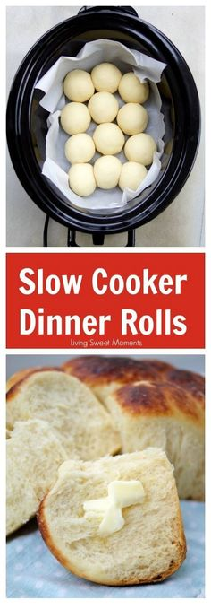 Low Unwanted Fat Cooking For Weightloss These Buttery Slow Cooker Dinner Rolls Do Not Require Proofing And Are Sweet, Soft And Delicious. Flawless To Serve With Dinner Or With Jam At Breakfast. All the more Slow Cooker Recipes At Via Livingsmoments Crock Pot Recipes, Healthy Crockpot Recipes, Crockpot Meals, Easy Recipes, Breakfast Crockpot, Crock Pots, Beef Recipes, Slow Cooker Recipes Dessert, Camping Recipes