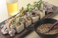 さっぱりとした豚しゃぶサラダは、食欲のない時にもぴったり。豚しゃぶサラダ