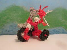 Rainbow Loom Tricycle Charm. 3D Bike tutorial by Lovely Lovebird Designs. Radio Flyer.