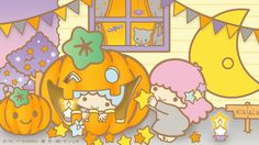 The twins did have a happy childhood. It dosn't make up for the life they live now. Sanrio Wallpaper, Star Wallpaper, Kawaii Wallpaper, Sanrio Characters, Cute Characters, Little Twin Stars, Little Star, Twitter Header Pictures, Sanrio Danshi