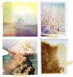 Dreamy pictures on expired Polaroid film.
