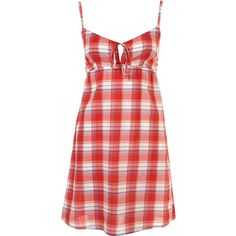 Red Summer Check Slip ($14) found on Polyvore