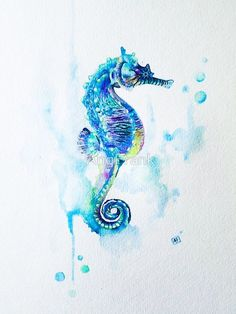 Image result for seahorse tattoo