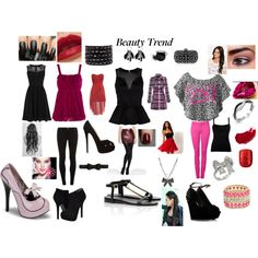 BLACK... RED... PINK... by bria-starling on Polyvore featuring polyvore fashion style Warehouse Paprika AX Paris Valentino Yumi Dorothy Perkins Witchery Alice + Olivia Tory Burch Christian Louboutin GUESS by Marciano Chan Luu Fantasy Jewelry Box Oasis Betsey Johnson With Love From CA Burberry Bobbi Brown Cosmetics tarte Elegant Touch Chanel NYX