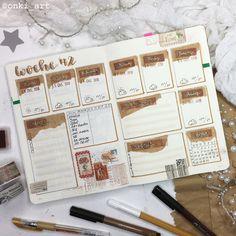 weekly spreads - onki_ART Bullet Journaling