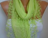 Lime -- SALE Scarf (13.50 USD) -- Free Scarf on ETSY