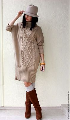 "Купить Платье ""Milky dress"" - платье-свитер, косы, белый, молочный цвет, свитер, платье"