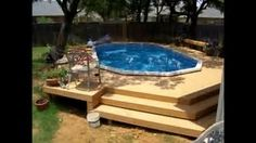 Pool secure fencings are best for personal privacy in addition to protection. But you can still appreciate developing your pool fence. Here are 27 Incredible pool fence ideas! Swimming Pool Decks, Above Ground Swimming Pools, In Ground Pools, Oberirdische Pools, Cool Pools, Tank Pools, Round Above Ground Pool, Above Ground Pool Landscaping, Pool Fence
