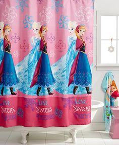 Disney Frozen shower curtain http://rstyle.me/n/taf85nyg6
