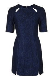 Bonded Lace A-Line Dress