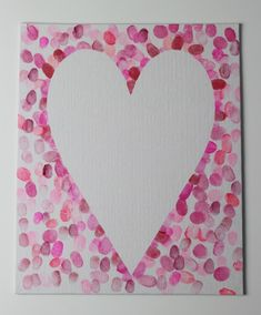 How to make a family fingerprint relief heart art canvas