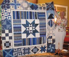 All Things Quilty: Blue and White Sampler Quilt Top